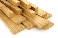 Wooden beams and planks Stock Images