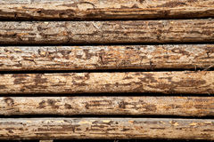 Wooden beams prepared to build a house Stock Images
