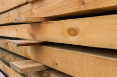 Wooden beams. In the raw Stock Photo