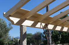 Wooden beams Royalty Free Stock Image