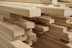 Wooden beams Stock Images