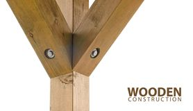 Wooden beams Stock Image