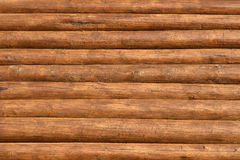 Wooden beams wall textured background Royalty Free Stock Image