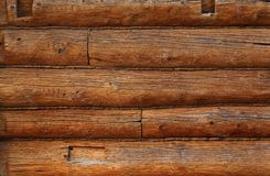 Wooden beams wall Stock Photography