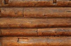 Wooden beams wall Stock Photography