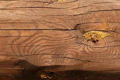 Wooden beams. Wood texture. Background. Wooden log cabin wall natural colored horizonta royalty free stock photography