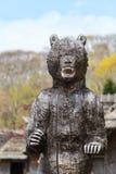 Wooden bear at Hokkaido Stock Photos