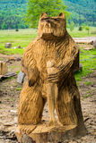 Wooden bear royalty free stock photography