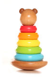 Wooden bear stacking toy Stock Image