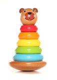 Wooden bear stacking toy Royalty Free Stock Photo