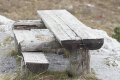 Wooden bech. While you hiking, you like to see wooden bench Stock Image