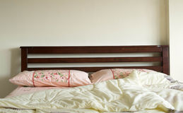 Wooden bed Royalty Free Stock Photography