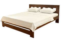 Bed on white Royalty Free Stock Photos