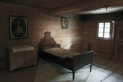 Wooden bed Stock Photos
