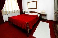 Wooden bedroom Stock Photo