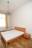 Wooden bedroom Royalty Free Stock Image