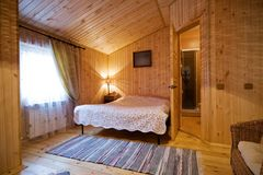 Wooden bedroom Royalty Free Stock Photography