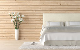 Wooden bedroom with calla lilly Stock Photography