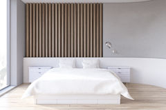 Wooden bedroom interior Royalty Free Stock Photo