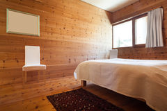 Wooden bedroom Stock Photo