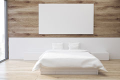Wooden bedroom, poster Royalty Free Stock Photo