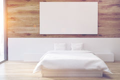 Wooden bedroom, poster, toned Royalty Free Stock Photography