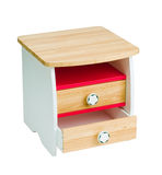 Wooden bedside table for kids Stock Photos