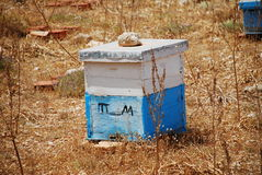 Wooden beehive, Halki island Royalty Free Stock Images