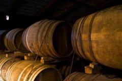 Wooden beer barrel Stock Photos