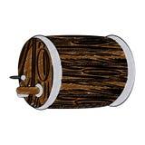 Wooden beer barrel scribble. Wooden beer barrel vector illustration graphic design vector illustration