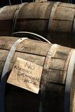 wooden beer barrels borough market london Stock Photo