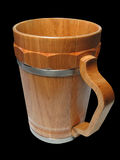 Wooden beer cup. Isolated object Stock Image