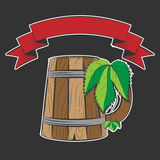 Wooden beer cup Stock Photography