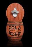 Wooden Beer Keg. A wooden beer keg over a black background Stock Images