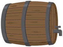 Wooden Beer Keg with Spout. A beer keg or wine keg with a spout Royalty Free Stock Photography