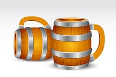 Wooden Beer Mug Royalty Free Stock Photos