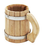 Wooden beer mug Stock Photos