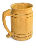Wooden beer mug Royalty Free Stock Image