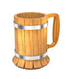 Wooden beer mug. Royalty Free Stock Photo