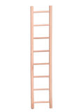 Wooden beige ladder isolated Royalty Free Stock Images