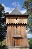Wooden belfry Royalty Free Stock Photography