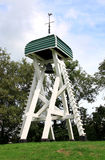 Wooden belfry at dutch churchyard in Oldeouwer Stock Images