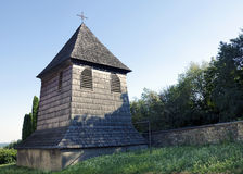 The wooden belfry Royalty Free Stock Photos