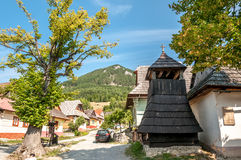 Wooden Belfry in Vlkolinec Royalty Free Stock Photos