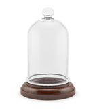 Wooden bell with glass cap isolated Stock Photography