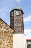 Wooden bell tower in the church of Constantine and Helena in the village of Bulgari, Bulgaria Royalty Free Stock Photos