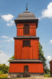 Wooden bell tower of a church near Skokloster castle Royalty Free Stock Photo