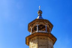 Wooden bell tower of orthodox church Royalty Free Stock Images