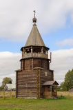 Wooden bell tower of orthodox church Stock Photo