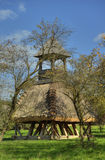 Wooden bell tower wit thatch Stock Photography